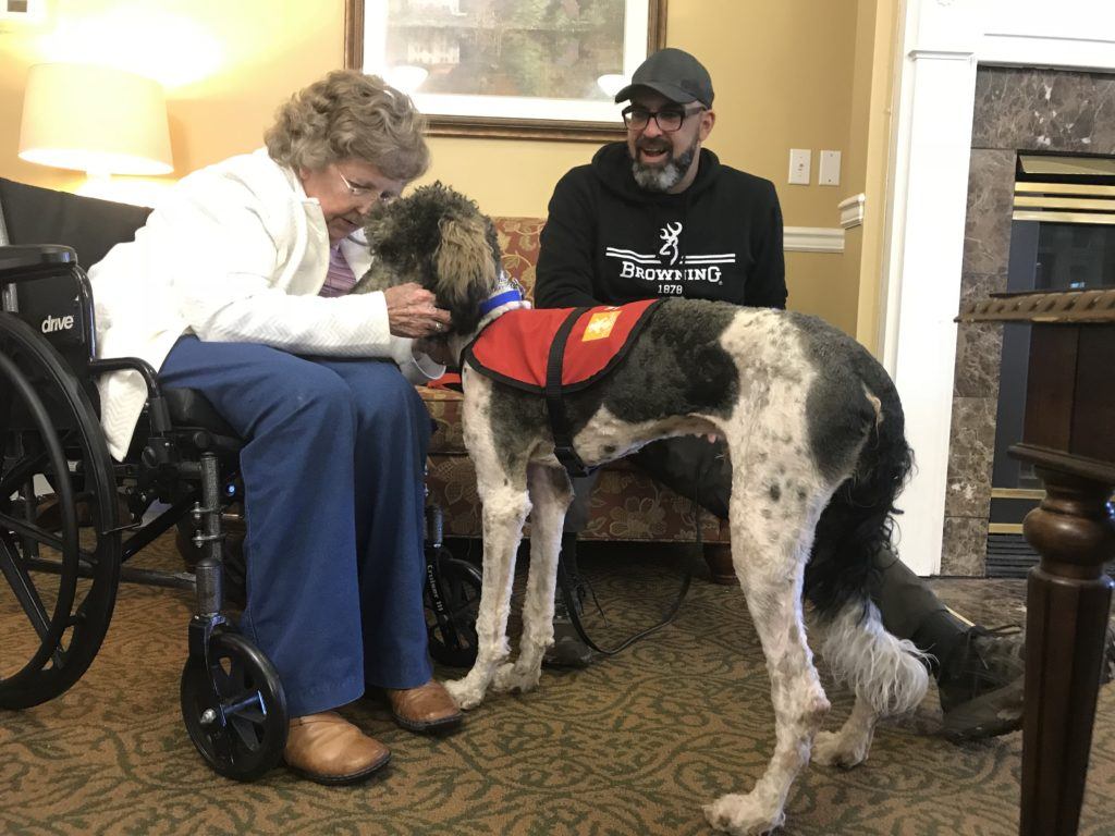 service dog visit to nursing home