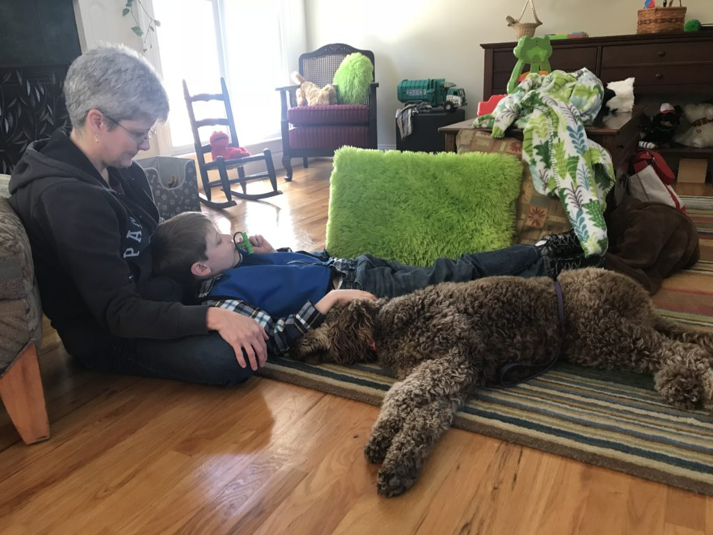 Service Dog witch child with seizures