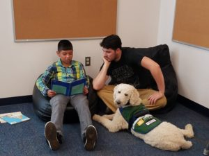 Therapy work in classroom setting