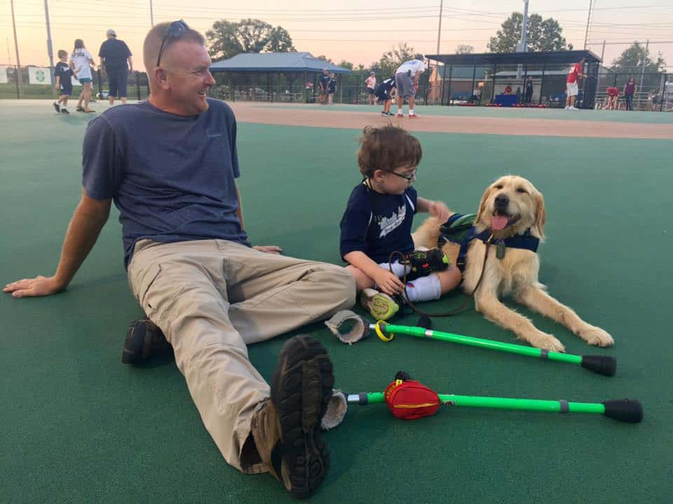 Child receives service dog