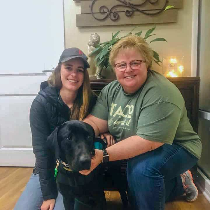 womens shelter facility therapy dog
