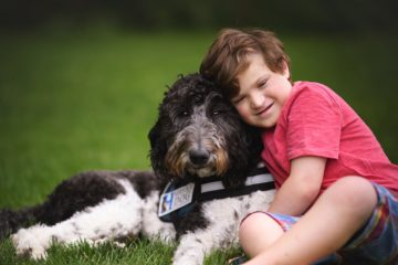 Autism Service Dog and child