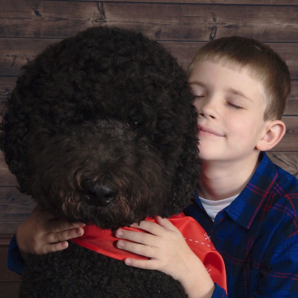 Child with Autism Assistance Service Dog
