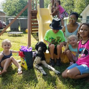 Autism Assistance Dog with children